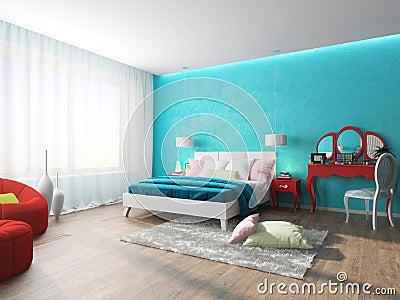 Camera Da Letto Parete Turchese : Parete turchese amazing pareti colorate casa for soggiorno bianco