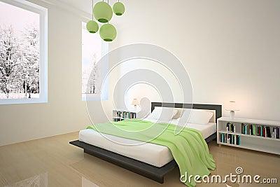 Camera da letto verde immagini stock libere da diritti - Camera da letto verde ...
