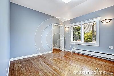 Camera da letto vuota con le pareti blu chiaro fotografia stock immagine 44241253 - Pareti blu camera da letto ...