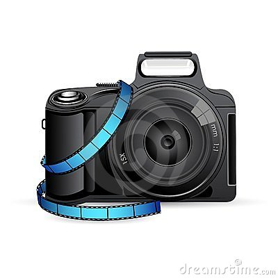 Camera with Film Reel