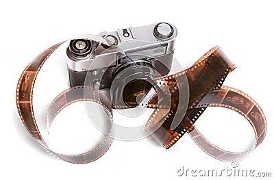 Camera and filmstrip