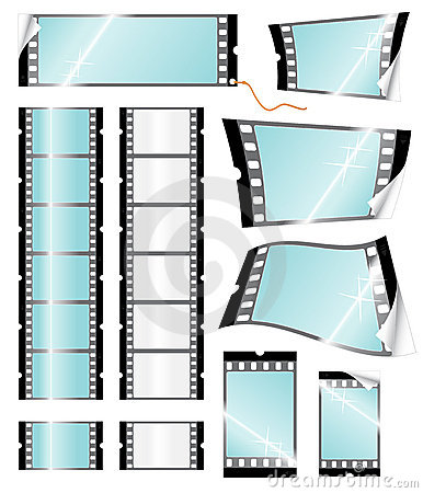 Camera filmstrip retail tags