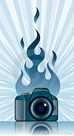Camera with fire
