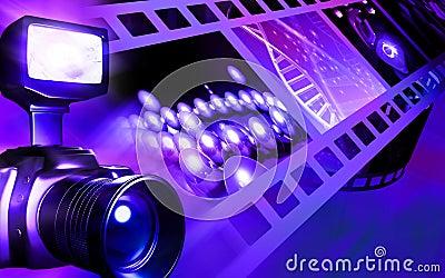 Camera with flashlight flashing