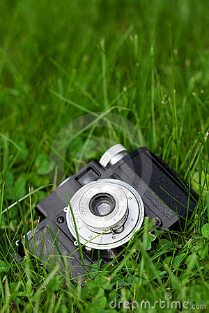 Camera in the grass