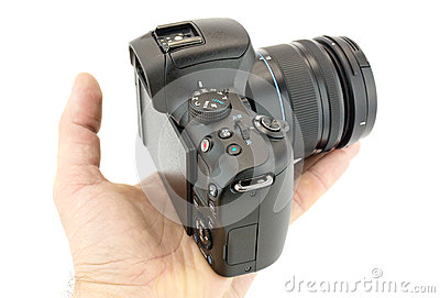 Camera in a hand