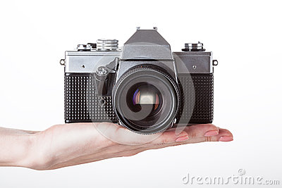 Camera and hand