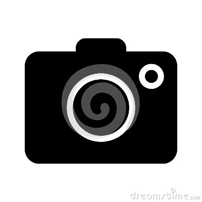 Camera icon on white background - vector iconic design Vector Illustration
