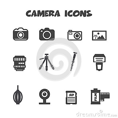 Free Camera Icons Stock Photography - 38741372