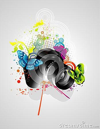 Free Camera Illustration Royalty Free Stock Image - 12480046