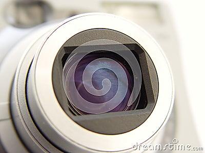 Camera Len Closeup Stock Photo