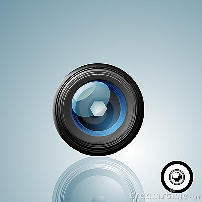 Free Camera Lens Button Royalty Free Stock Images - 4298309