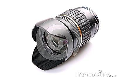 Camera lens isolated