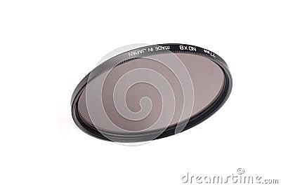 Camera lens neutral density filter