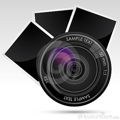 Camera Lens with Photograph