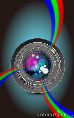 Camera lens rainbow light