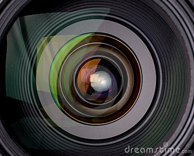 camera lens reflection Stock Video Camera Lens Reflection