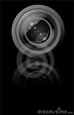Free Camera Lens (Vector) Royalty Free Stock Photos - 6910258