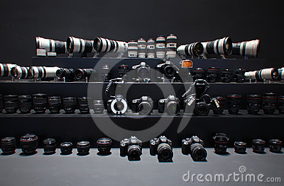 Camera and lens,Canon Editorial Photo