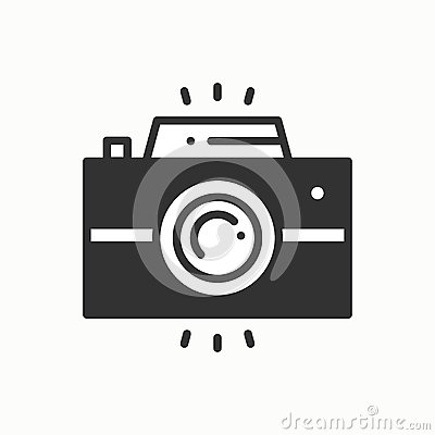 Free Camera Line Outline Icon. Photo Camera, Photo Gadget, Instant Photo. Snapshot Photography Sign. Vector Simple Linear Royalty Free Stock Photography - 89811297