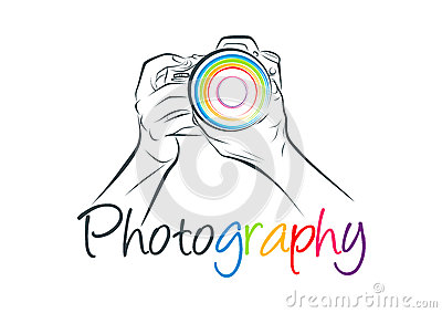 Camera logo, photography concept design Vector Illustration