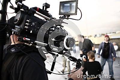Camera man with camera brace
