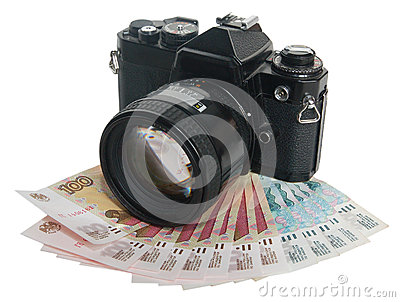 The camera on money (the photo - as earnings)