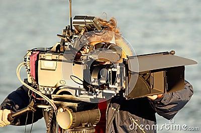 Camera operator at work