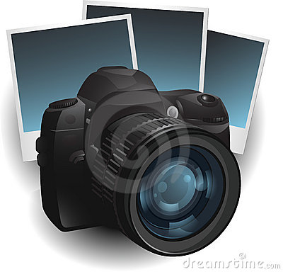 Camera photo illustration