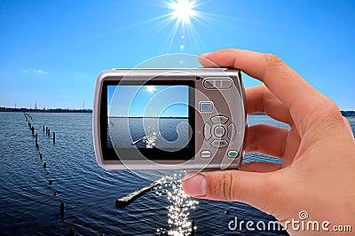 Camera photographing nature