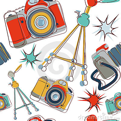 Camera seamless pattern