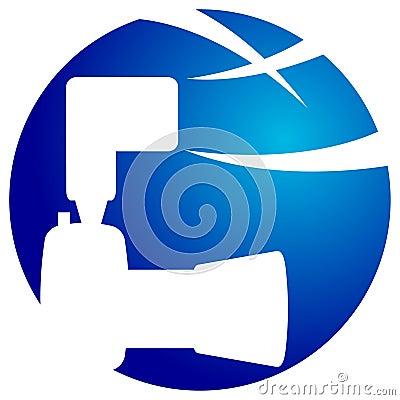 Camera silhouette  logo