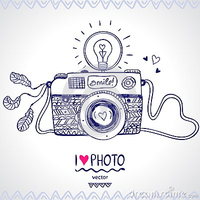 Free Camera Sketch Royalty Free Stock Photography - 35780087