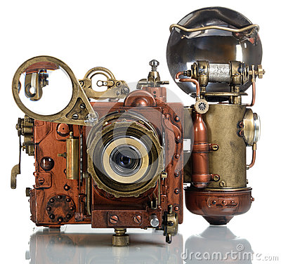Free Camera Steampunk Royalty Free Stock Images - 34211869