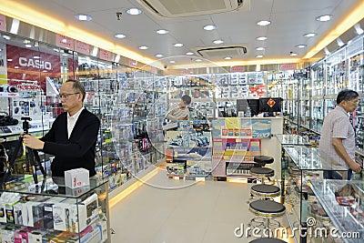 The camera store in hongkong Editorial Stock Image