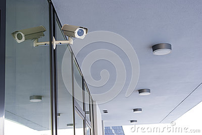 Camera system guarding office building
