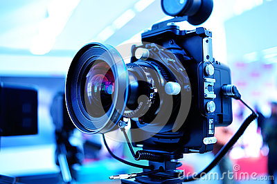 Camera On Tripod Stock Photography - Image: 28386132