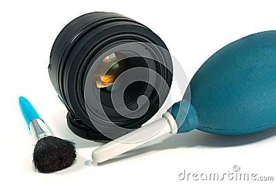 Cameralens het schoonmaken