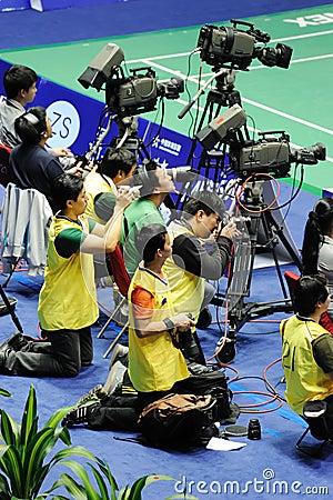 Cameraman in action Editorial Photo