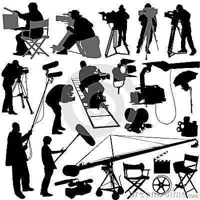 Free Cameraman And Film Set Royalty Free Stock Image - 4469136