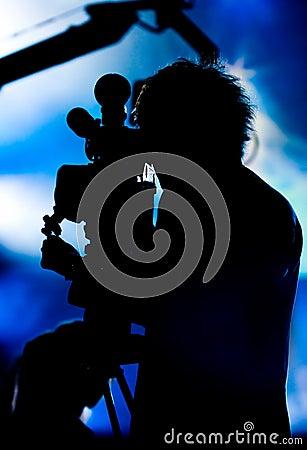 Free Cameraman Silhouette Stock Photos - 5367003
