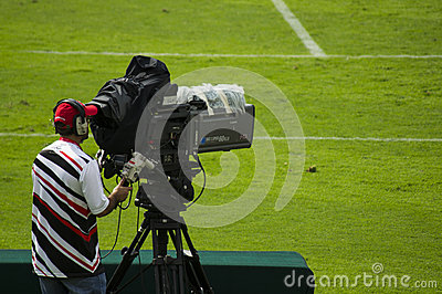 Cameraman at Sports Event