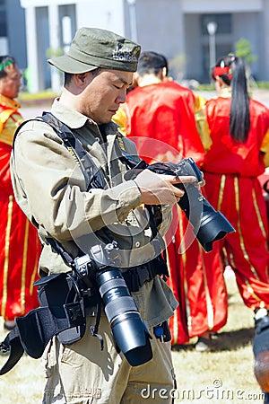 Cameraman Editorial Photo