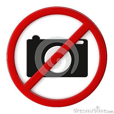 Cameras not allowed