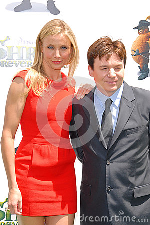 Cameron Diaz,Mike Myers Editorial Stock Image