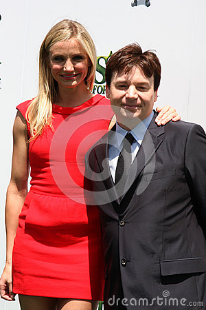 Cameron Diaz,Mike Myers Editorial Photography
