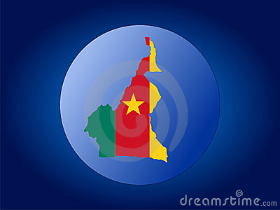 Cameroon globe illustration