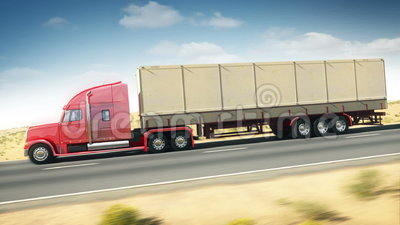 Camión grande en una carretera