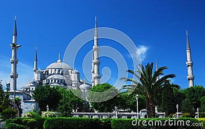 μπλε μουσουλμανικό τέμενος της Κωνσταντινούπολης camii
