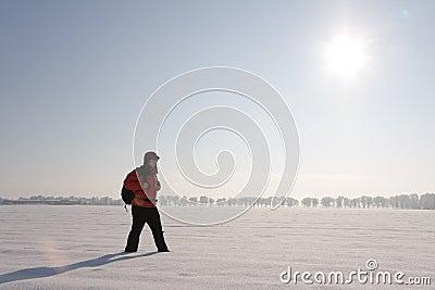 Caminante en la nieve